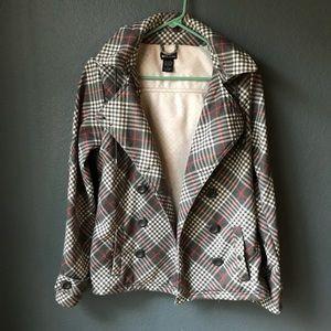 Plaid style jacket