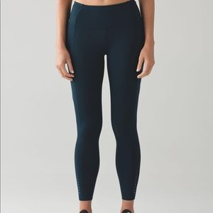 Lululemon fast and free Nocturnal Teal