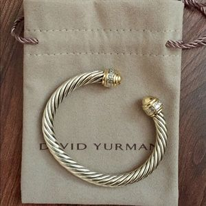 David Yurman 7mm Cable Bracelet with diamonds