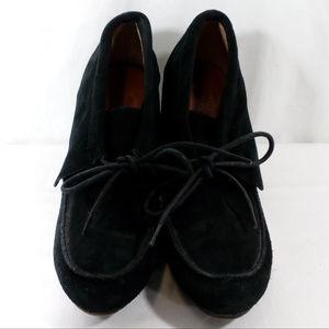 Nine West Black Suede Heeled Loafers
