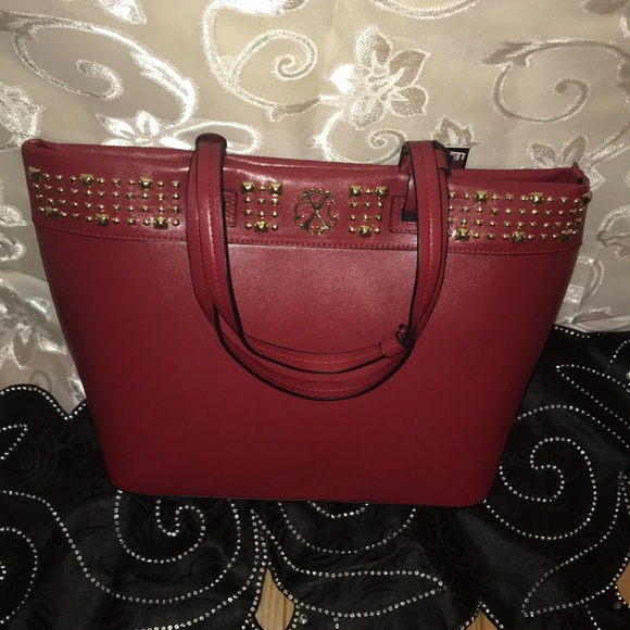 d3074ae0ac39 CXL BY CHRISTIAN LACROIX-Red Nina Studded Tote 👜