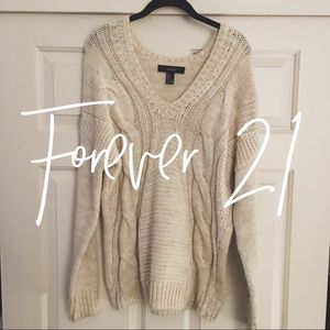 Forever 21 / cream cable knit sweater