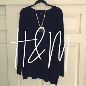 H&M / black fine knit sweater