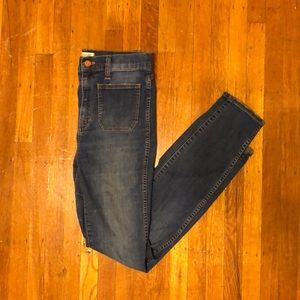 Madewell High Waist Skinny Sailor Jeans