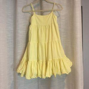 United Colors Benetton Tween Yellow Ruffle Dress