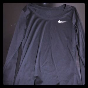 Black long sleeve Nike workout top