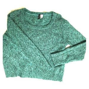 H&M blue/green sweater S 165 knit wear