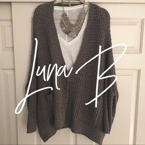 Luna B / brown chunky sweater