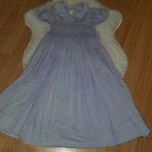 Strasburg Smocked Dress Size 6Y Lavender Purple