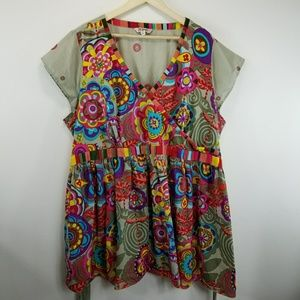 Joe Browns Floral Baby Doll Cotton Dress Tunic