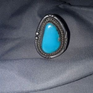 Native American 925 Sterling Turquoise Ring