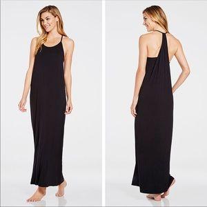 Fabletics Neema Maxi Dress Black Halter Neck