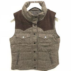 Brown puffy vest