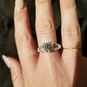 Beautiful Heart CZ Diamond Ring