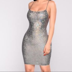 Dresses & Skirts - Silver sequins dress