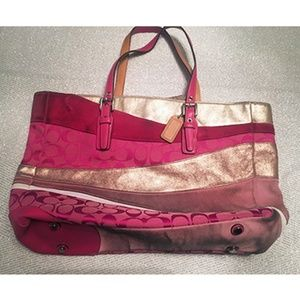COACH • RARE! Limited Edition Wave Pink Tote #1441