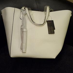 Huge Cream Tote Bag NWT