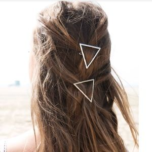 Gold Triangle Hair Clip 1Pc