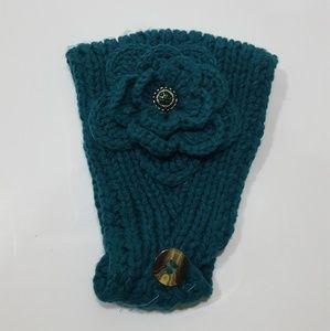 Teal headband w flower