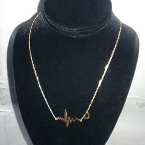 HeartRate Necklace 18kt Rose gold