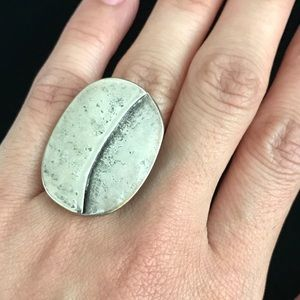 Adjustable Silvertone Ring From Greece