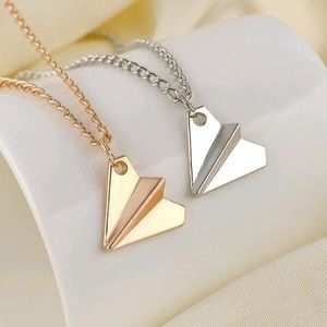 ✈️ New list! ✈️ Dainty paper airplane necklace!
