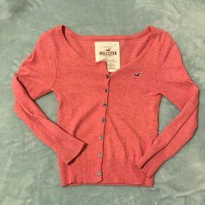 Pink Hollister Cardigan