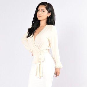 Fashionnova Little White Lies Top - Ivory
