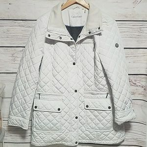 CALVIN KLEIN QUILTED JACKET COAT XL POCKETS