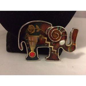 Rare Artisan Yossi Steinberg Elephant Brooch