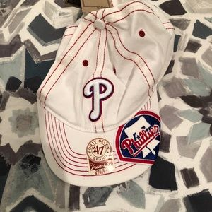 BNWT White and red Phillies Hat