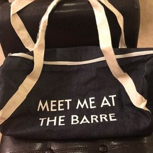 "😍Brand New gym bag! ""Meet me at the Barre!"" 😍"