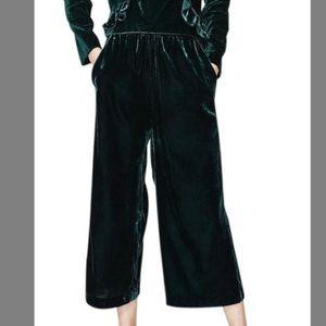 Zara Velvet green trouser