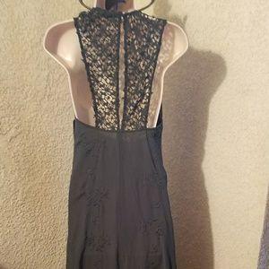 NWT Zara olive green lace open back maxi dress XS