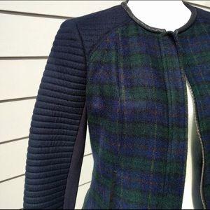 Zara Trafaluc Plaid Jacket