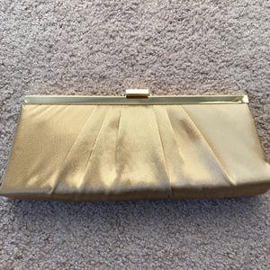 2 Jessica McClintock clutches in gold & light blue