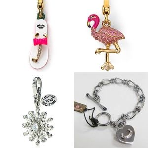Juicy couture charm bracelet starter + 3 charms