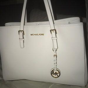 White MK Tote