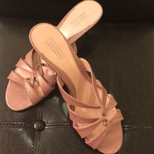 Size 11 open toe light pink heels from Nordstrom!
