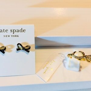 Lowered! set kate spade ring AND earrings