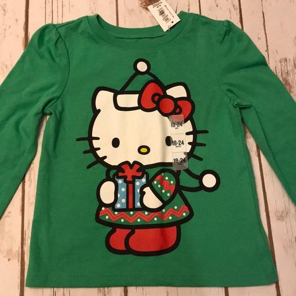 toddler girl old navy hello kitty christmas shirt