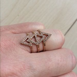 Stella and Dot Pavé Spear Ring