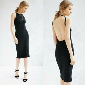 Urban outfitters backless midi dress