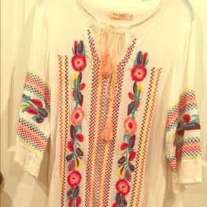 Ethnic maxi dress with rich embroidery