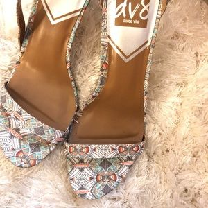 Dolce Vita Boho print heels