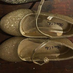 Little girls gold heels