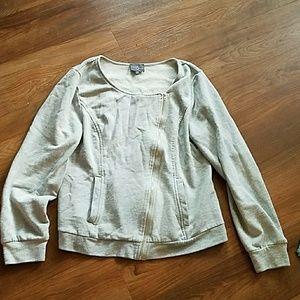 Market & Spruce Asymmetrical zip jacket