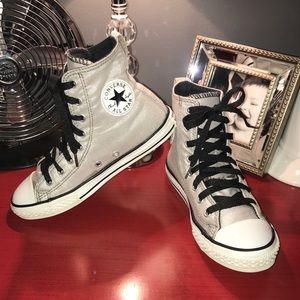 Converse All Star Chuck Taylor Hi Top Silver, 2Y
