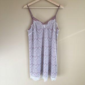 Anthropologie Eloise lace chemise slip dress