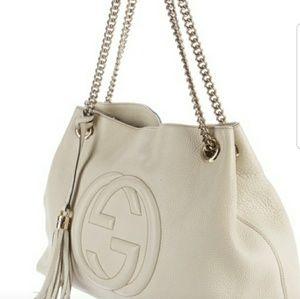 Gucci Soho White Leather Bag